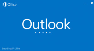 Outlook 2013 is stuck at the loading profile screen