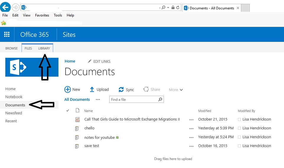 how to synchronize sharepoint with windows10